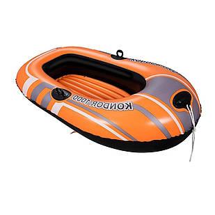 Одноместная надувная лодка Bestway 61099 NE 145 х 84 см. 2-х камерная