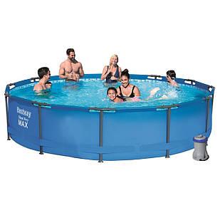 Каркасный бассейн Bestway 56416, 366 х 76 см (1 250 л/ч, подстаканники 2 шт.)
