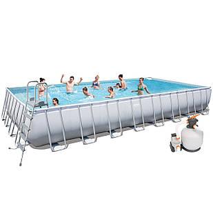 Каркасный бассейн Bestway 56623, 956 х 488 х 132 см (7 571 л/ч, дозатор, лестница, тент, подстилка)