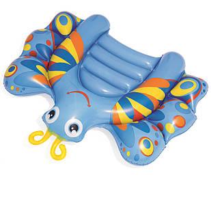 Детский надувной плотик для катания Bestway 42047 «Бабочка», 118 х 99 см