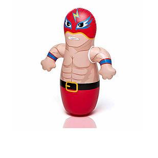 Надувная игрушка - неваляшка Intex 44672 «Боксер», красный 91 х 72 см