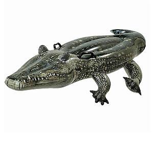 Детский надувной плотик для катания Intex 57551 «Алигатор», 170 х 86 см