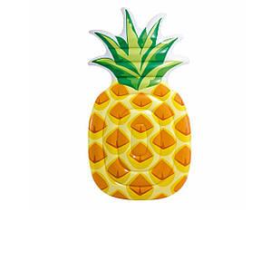 Пляжный надувной матрас Intex 58761 «Ананас», желтый, 216 х 124 см