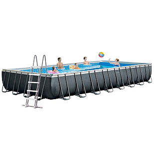 Каркасный бассейн Intex 26378 - 1, 975 х 488 х 132 см (лестница, тент, подстилка, сетка)