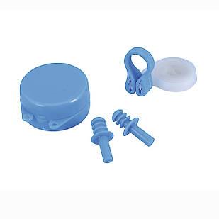 Беруши для ушей, клипса для носа Bestway 26028, универсальные (8+), голубые