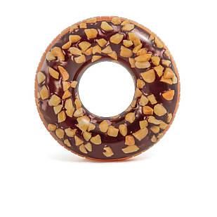 Надувной круг Intex 56262 «Шоколадный пончик», 114 см
