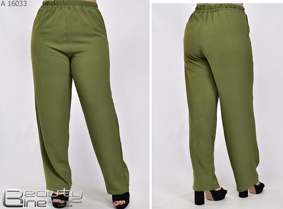 Женские летние брюки большого размера Украина Размеры: 54.56.58.60.62.64.66.68.70., фото 2