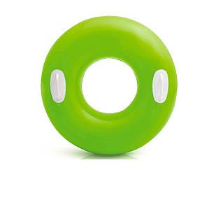 Надувной круг Intex 59258 «Глянец», с ручками, 76 см, зеленый
