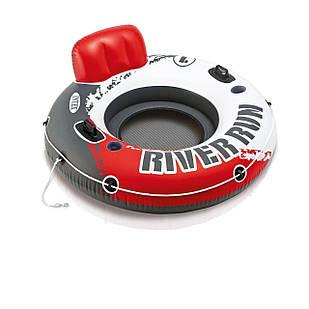 Надувной круг River Run, серия «Sports», Intex 56825, 135 см, красное