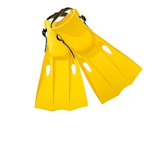 Ласты для плавания Intex 55936, размер S, 35-37(EU), под стопу ≈ 22-24 см, желтые