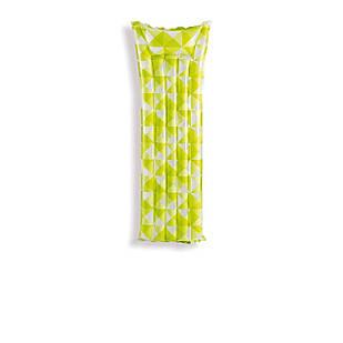 Пляжный надувной матрас с подголовником Intex 59712, 183 х 69 см, салатовый