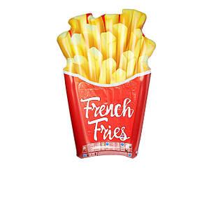 Пляжный надувной матрас Intex 58775 «Картошка фри», серия «Фастфуд» 175 х 132 см