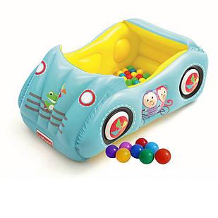 Надувной игровой центр Bestway 93535 «Машина», 119 х 79 х 51 см, с шариками 25 шт