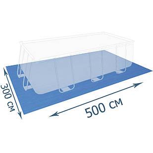Подстилка для бассейна Bestway 58264, 500 х 300 см, прямоугольная