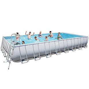 Каркасный бассейн Bestway 56623 - 1, 956 х 488 х 132 см (лестница, тент, подстилка)