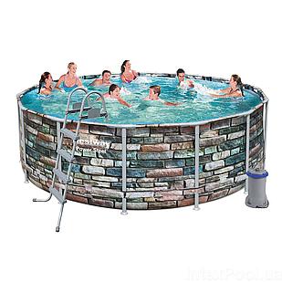 Каркасный бассейн Bestway 56993, 427 х 122 см (3 028 л/ч, лестница, тент, дозатор)