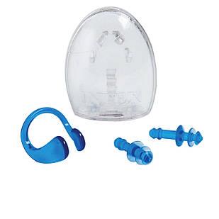 Беруши для ушей, клипса для носа Intex 55609, универсальные (8+), голубой