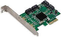 Контролер PCI-Е 2.0 x2 to 4 Port SATA III Marvell 88SE9235 (SI-PEX40062) новий