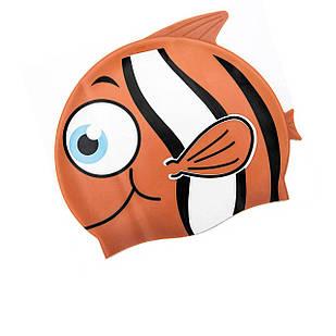 Шапочка для плавания Bestway 26025 «Рыбка», размер S, (3+), обхват головы ≈ 50 см, (21 х 17, 5 см), оранжевый