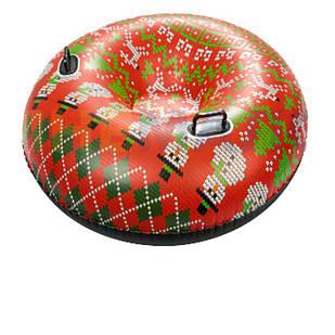 Одноместный надувной сани - тюбинг для катания Bestway 39060, 127 см, красный