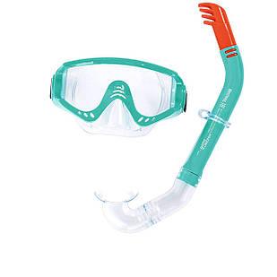 Набор 2 в 1 для плавания Bestway 24020 (маска: размер L, (14+), обхват головы ≈ 54-65 см, трубка), зеленый