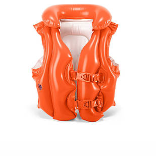 Детский надувной жилет Intex 58671 «Люкс», серия «Школа плавания», 50 х 47 см