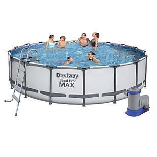 Каркасный бассейн Bestway 56462, 549 x 122 см (5 678 л/ч, лестница, тент, подстилка)