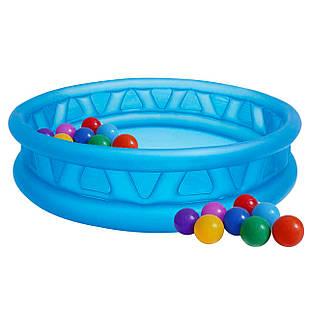 Детский надувной бассейн Intex 58431-1 «Летающая тарелка», 188 х 46 см, с шариками 10шт
