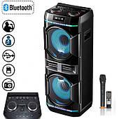Активна Акустика LEISOUND boombox BM-100 + DJ управління, Bluetooth, Потужність 150 Ват, Світломузика, Чорна