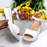 Босоніжки жіночі білі натуральна шкіра, фото 4