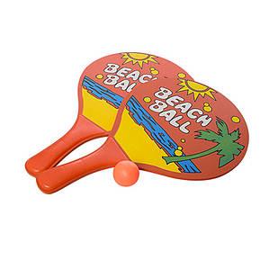 Пляжные ракетки IntexPool 60210, с мячом, оранжевая