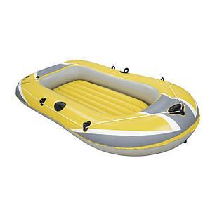 Двухместная надувная лодка Bestway 61064, Raft, (Hydro Force), желтая, 228 х 121 см. 3-х камерная