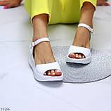 Босоніжки жіночі білі натуральна шкіра, фото 7