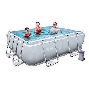 Каркасный бассейн Bestway 56629 - 4, 282 х 196 х 84 см (2 006 л/ч, тент, подстилка)
