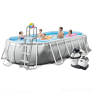 Каркасный бассейн Intex 26796 - 7, 503 x 274 x 122 см (6 000 л/ч, лестница, тент, подстилка, набор для ухода)
