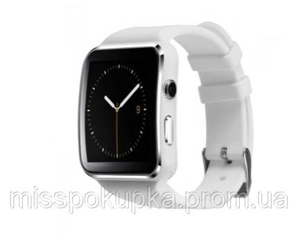 Умные наручние часы X6 белый цвет