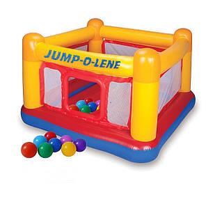 Надувной батут Intex 48260-1 «Jump-O-Lene» , 174 х 174 х 112 см, с шариками 10 шт