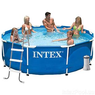 Каркасный бассейн Intex 28200 - 5, 305 х 76 см (2 006 л/ч, тент, подстилка, лестница)