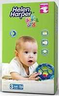 Підгузники дитячі Helen Harper Soft&Dry 3 Midi (4-9 кг) 56 шт