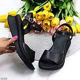 Босоніжки жіночі чорні натуральна шкіра, фото 6