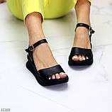 Босоніжки жіночі чорні натуральна шкіра, фото 9