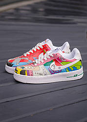 Кроссовки Air Force 1 Flyleather Ruohan Wang, обувь, взуття, sneakers, шузы, Air Force