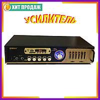 Усилитель звука UKC AV-121BT Bluetooth USB + Караоке на 2 микрофона Стереофонический усилитель