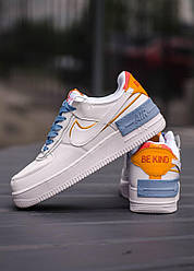 Кроссовки Air Force 1 Shadow Be Kind, обувь, взуття, sneakers, шузы, Air Force