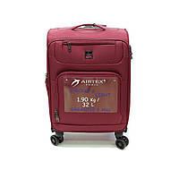 Маленька валіза під ручну поклажу на 4-х кол Airtex 850 бордова, фото 1
