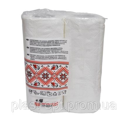 Рушник паперовий Обухівський 2-шарова, 2 рулони, фото 2