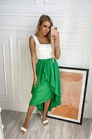 Женская асимметрическая юбка зеленый