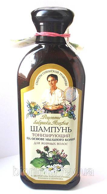 Шампунь Агафьи Тонизирующий для жирных волос, 350мл