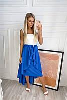Женская асимметрическая юбка синий