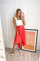 Женская асимметрическая юбка розовый